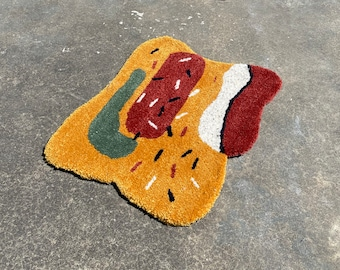 Sprinkle 2.0 Rug - Hand Tufted Rug - Handmade - Tufting - Small Rug - Large Rug  - Circular Rug - Wall Hanging -  Handmade in Brooklyn