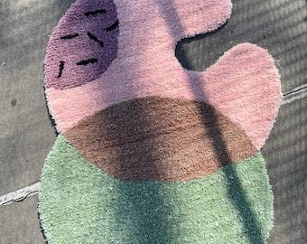 Sprinkle Rug - Hand Tufted Rug - Tufting - Small Rug - Large Rug  - Circular Rug - New York - Mid Century Modern - Minimalist - Carpets
