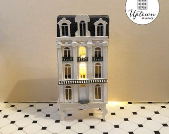 SVG file for a French Dollhouse in 1:144 scale