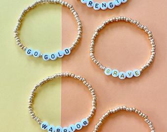 Childhood cancer awareness. Childhood cancer jewelry. Cancer bracelet. Seed bead. Childhood cancer bracelet.