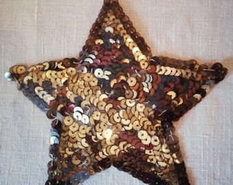 1920s Gold Sequined Star Patch ApplicatorJazz Age Flapper