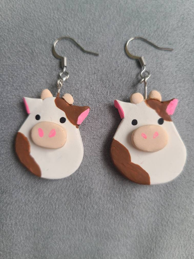 Ronnie the Cow Squish Earrings
