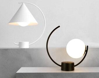 Modern Bedside Lamp Etsy