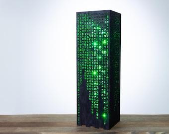 Matrix Lamp   Matrix Green Hieroglyphs Numbers Vertical Lines   Desk Cyberpunk Night Lamp   Sci-Fi Contemporary Style LED Futuristic Lamp
