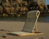 Handmade Folding Rattan Beach Chair, Include Strap and Visor (FREE)