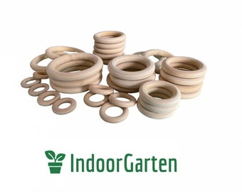 Wooden rings macrame for crafting DIY handicrafts