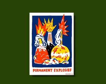 Zeefdruk Permanent explosief