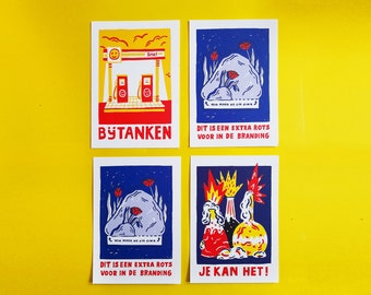 Ansichtkaarten - set van drie