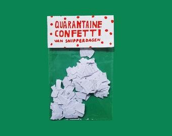 Quarantaine confetti van snipperdagen