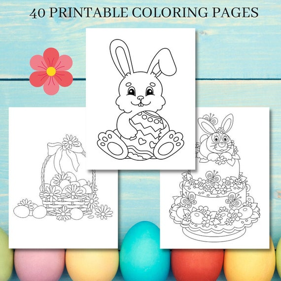 40 Easter Coloring Pages Printable Kids/Boy/Girls Easter