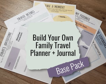 Build Your Own Family Travel Journal and Planner for Kids * Base Pack