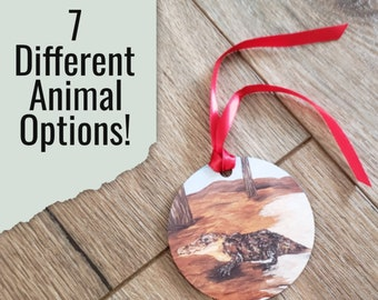 North American Wildlife Aluminum Ornament * Double or Single Sided Round or Benelux