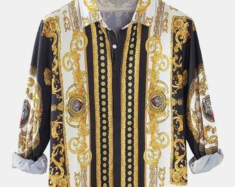 Vintage Scarf Print Blouse Vintage Baroque Print Shirt