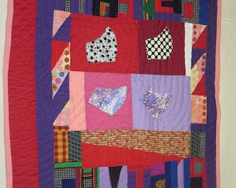 Gee's Bend Quilt, Cotton Quilt, Hand Sewn Quilt, Hand-Quilted, Artistic Quilt