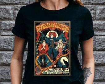 Sanderson Sisters Shirt, Hocus Pocus Tshirt Women Men, Retro Halloween Tshirt 2021, Fall Tshirt, Witches Tshirt, Halloween Gift for Kids UK