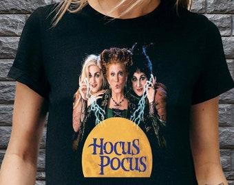 Hocus Pocus T Shirt UK, Sanderson Sisters Witch Shirt, Retro Halloween Tshirts for Women Men, Halloween Costume, Halloween Gifts for her