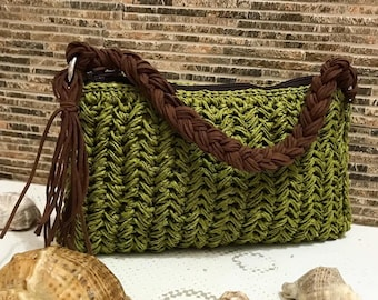 Colorful stripe bag, colorful personalized lettering Golden lettering Colorful Stripe Crochet Straw Summer clutch Colorful Purse