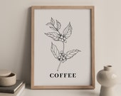 Coffee Bar Decor, Sign, Poster, Print Kitchen Wall Art Bedroom Wall Decor Over The Bed Aesthetic