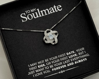 To my Soulmate - Silver Love knot necklace