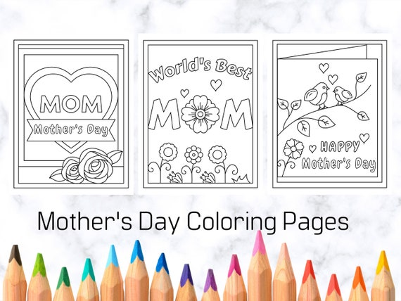 Mother's Day Coloring Pages for Kids Printable Coloring