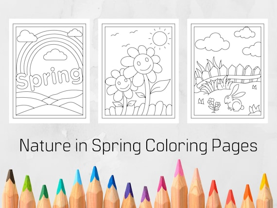 Springtime Coloring Pages for Kids Printable Coloring Pages
