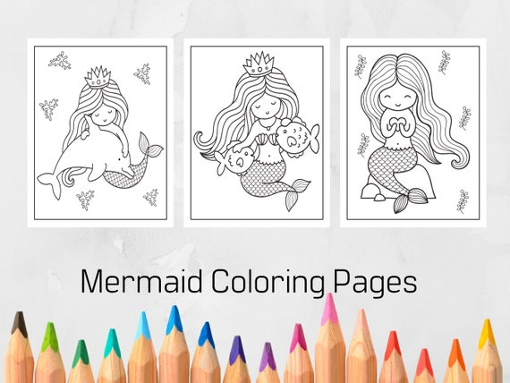 Mermaid Coloring Pages for Kids Printable Coloring Pages for