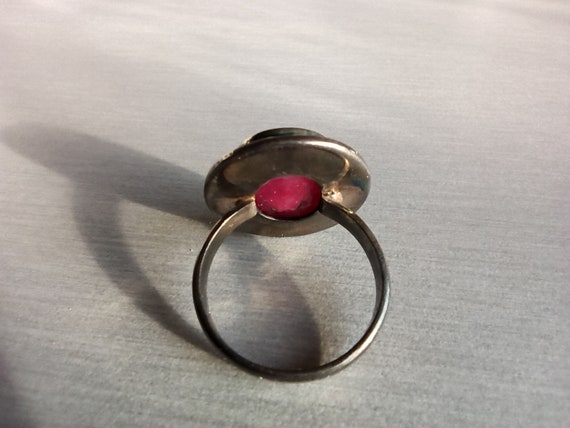 Ruby Ring, 925 Sterling Silver, Silver Ruby Ring,… - image 5