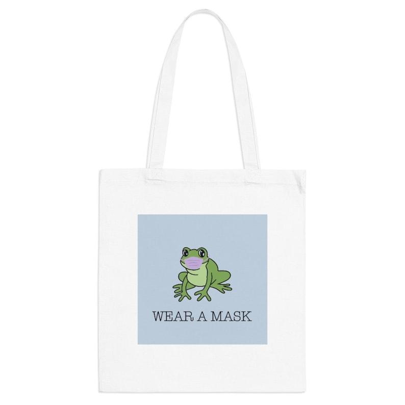 Frog \u2018Wear A Mask\u2019 Tote Bag