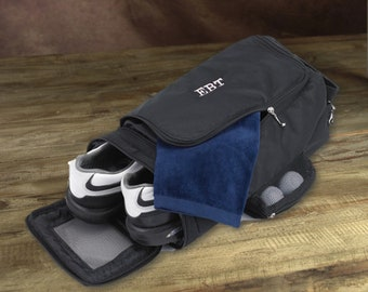 Personalized Golf Shoe Bag with Initials Embroidery, Golf Gift for Men / Unique Thank You and Proposal Gift for Groomsmen