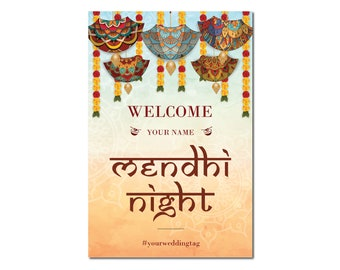 Downloadable Personalized Mendhi/Sangeet Welcome Poster