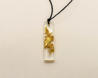 Gold collection of epoxy resin jewelry