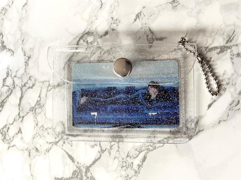 Glittery Mini Coin Purse with K-POP Photocard Pocket