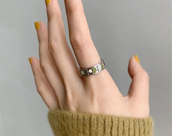 Women Ring Valentine Meditation Ring Popular Ring Copper Ring Brass Ring Gift For Her Handmade Ring Mother\u2019s Day Worry Band Ring