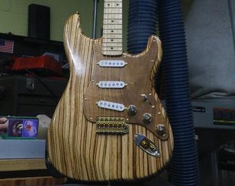Custom Fender Stratocaster (Zebrawood, Walnut and, Birdseye Maple)