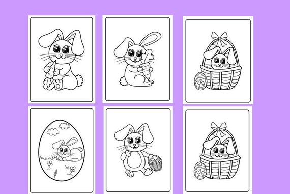 Easter Coloring Pages Printable Coloring Pages Easter Bunny