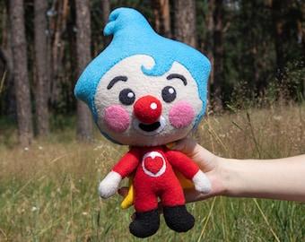 Plim Plim Clown plush toy, Handmade soft doll, Custom toys, Made to order (Unofficial)