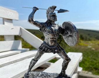 pure Bronze Sculpture Xiphos Ancient Greek Hero Warrior Iliad Ajax the great Sword Homer