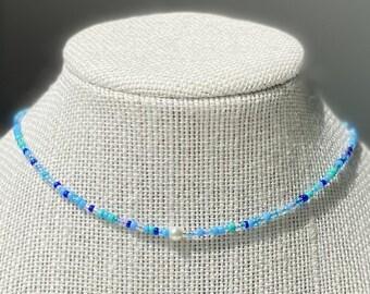 pearl choker simple choker visco necklace summer necklace single white pearl choker