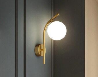Modern Globe Sconce, Bathroom Vanity, Mid Century Wall Sconce, Vanity Light Fixture, Industrial Vanity Lighting, Wall Lighting