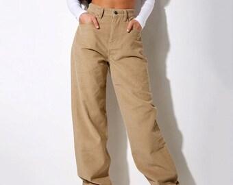 Corduroy Pants Women | Loose Fit