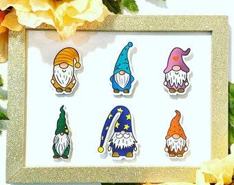 Garden Gnome Sticker Set