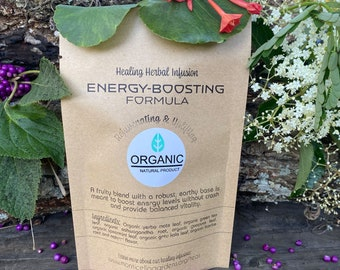 Energizing organic herbal tea. Improves concentration & boosts vitality.