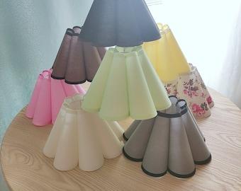 YZ629 creative petal shade cloth composite PVC lampshade