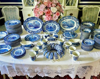 Vintage Staffordshire Liberty Blue China