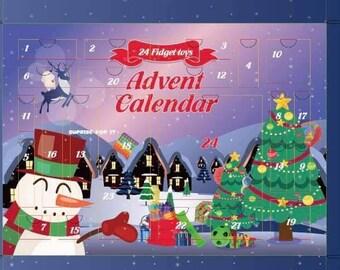 Fidget toys advent calendar , sensory toys, 2021 advent calendars ,