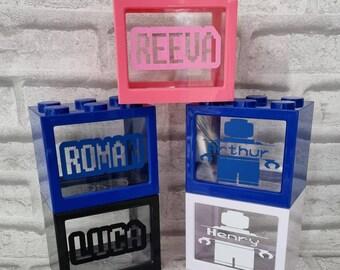 Brick style money box personalised