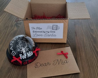 Santa cam with personalised letter, santa surveillance box , father Christmas decoration