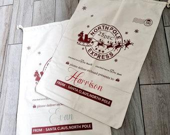 Large santa sacks personalised,  present bags
