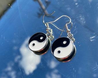 90/'s Yin Yang Jewelry Bohemian Gypsy Necklace Pastel Goth Soft Grunge Boho Jewelry Galaxy Yin Yang Necklace Boho Chic Bohemian Jewelry