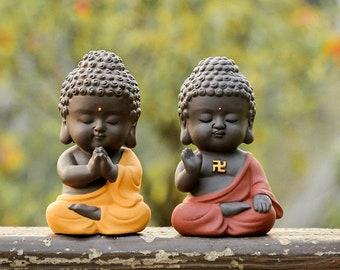yixing zisha tea pet small Buddha home garden deocration house warming gift new